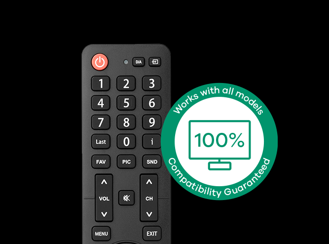 URC1916 Hisense TV Replacement Remote